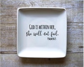 God Is Within Her, She Will Not Fail - Jewelry Dish - Ring Dish - Change Dish