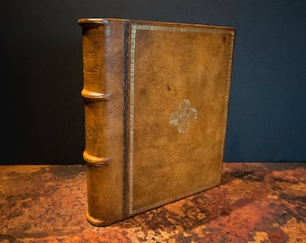 Leather Book Bound Vintage Double Photo Frame