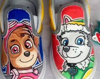 Paw Patrol Shoes, Children's Shoes, Painted Vans