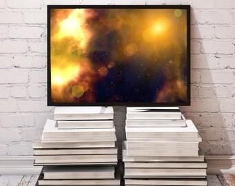 Universe poster Galaxy decor Space print