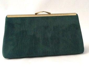 Emerald Green Suede Handbag