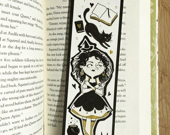 Quality print bookmark - The Witch in golden socks