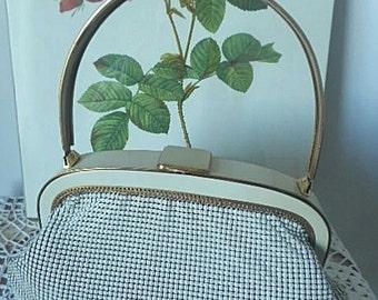 1970s Oroton Bone Mesh Evening Purse / Handbag