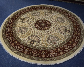 High Quality hand knotted pak persian Round rug