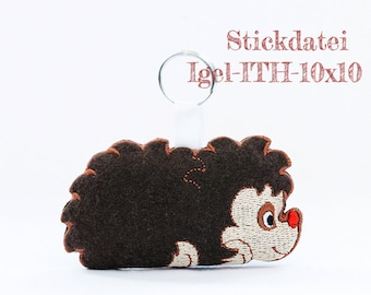 Embroidery file Hedgehog-ITH-10 x 10