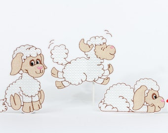 Embroidery files sheep - set of 3