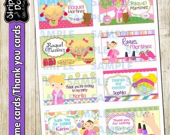 Spa Printable Labels 1,Spa Name Cards,Spa School Labels,Spa Thank you Cards,Spa Party Cards,Spa Party,Name labels,School Labels,