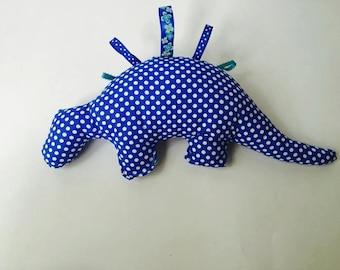 Blue Dotted Stuffed Dinosaur
