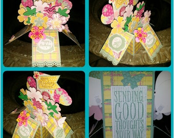 Handmade Pop-Up Card in a Box, Party Favors, Birthday Banners, Greeting Cards, Invites and more