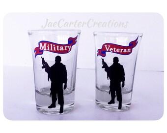 Military Veteran Shot Glasses