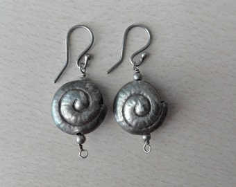 Silver earrings - Free international Shipping