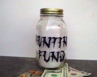 Hunting fund, Hunting fund jar, Hunting savings jar, Hunting coin jar, Hunting coin bank, Coin bank, Coin jar, Savings jar, Hunter savings