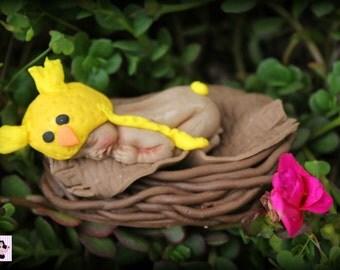 1x Cute Baby Bird Fondant Edible Cake Cupcake Topper 2-3 inch base