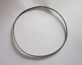 Antique Sterling Silver Embossed Beautiful Bangle Bracelet