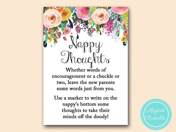 write message on diaper floral shabby chic baby shower games baby