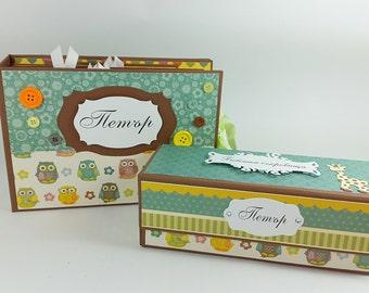 Baby Boy Photo Album with Baby keepsake box  Baby shower gift Baby gift