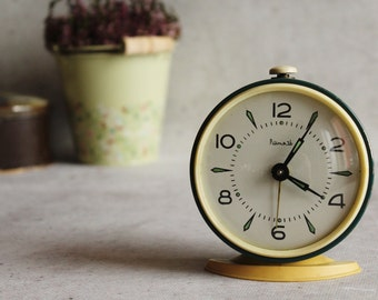 Vintage alarm clock, Soviet alarm clock, working condition