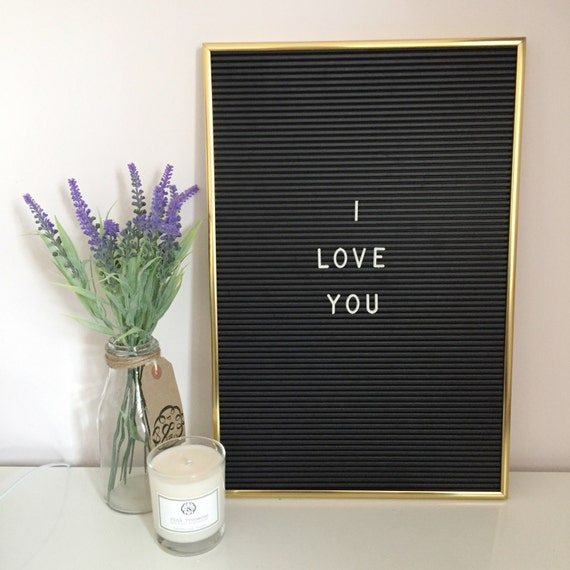 vintage style letter board with 286 interchangeable white letters and gold frame peg board weekly planner message board price board