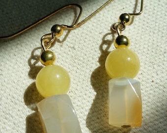Yellow Jade with Carnelian