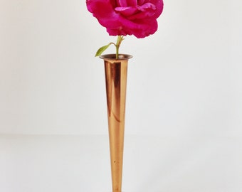 Vintage copper bud vase