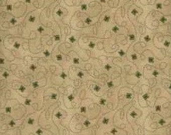 AE Nathan Co. Quilting Cotton Fabric Brown Butterflies 129809