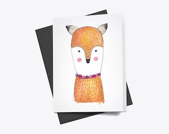 Mrs. Fox Greeting Card