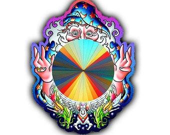 Suncatcher - Magical Wizard Suncatcher - Rainbow Sun Catcher