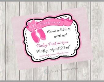 Ballerina Printable Invite, Ballerina Printable Invitation, Ballerina Invitation, Ballerina Invite, Ballerina Party, Ballerina Birthday