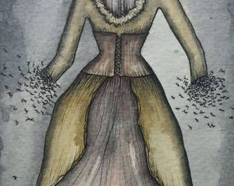 Infested Dress ! *original painting*