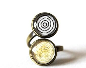 Minimalist Double Cabochon ring