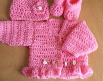Baby Annabell Dolls clothes-Cardigan Set