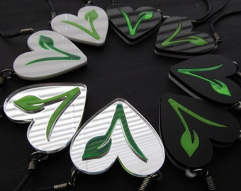 Vegetarian logo necklace