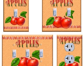 Apples Light Switch Plate Cover Kitchen Decor