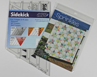 Combo Set - Sidekick Ruler PLUS Sprinkles Baby Quilt Pattern from Jaybird Quilts