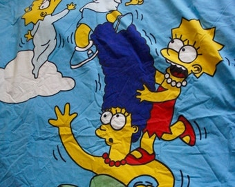The Simpsons Single Double Sided Duvet Cover By Belltex For Fabric Material And Sewing, Crafts Supplies