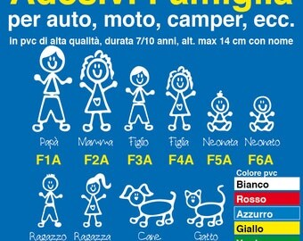 Family on board stickers personalized car, motorcycle, caravan. Family sticker-2