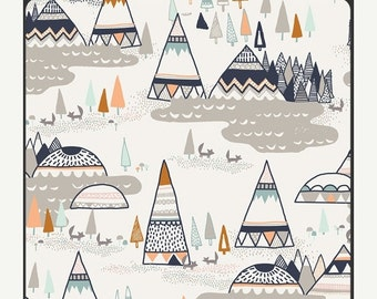 TeePee Woodland in Oak / Teething Pads / Drool Pads for Ergo, Tula, Beco, Boba, Mei Tai, Lillebaby, Manduca