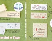 CARDS and TAGS to make wedding favors or place cards (100% customizable!)-set 50 pieces