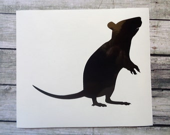Rat stickers - Vinyl Stickers - Vinyl Decal - Vinyl Wall Decals - Vinyl Wall Stickers - Rat Wall Decal Stickers
