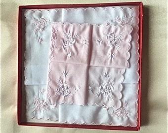 Ladies Vintage Handkerchief Set, by Carlos Falchi