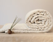 Universalios rankų darbo vilnos užpildo antklodės / All seasons wool filled duvet