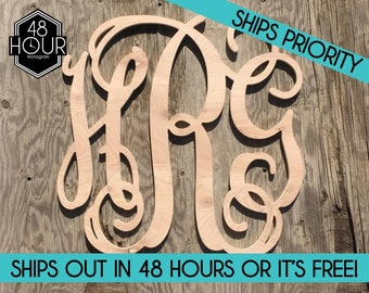 SALE SALE Item Large inch Wooden Monogram Letters Vine Room Decor Nursery Decor Wooden Monogram painted Wood Monogram Wood Letters Furniture