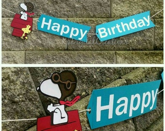 Snoopy birthday, Snoopy birthday banner, Snoopy, Snoopy party, Peanuts Movie party