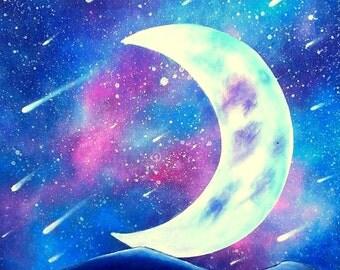 Crescent Moon chart - Crescent Moon and stars - Sabrina RIGGIO chart