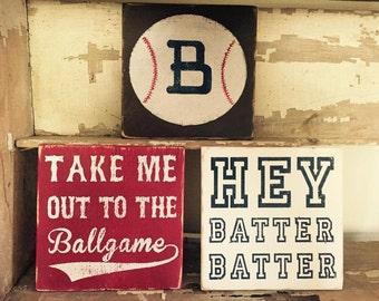 Baseball Theme Wooden Signs