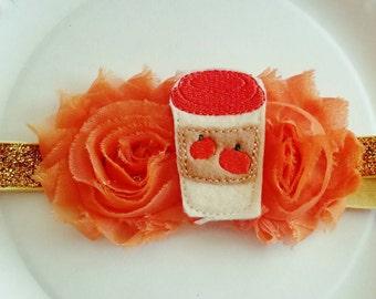 Pumkin Spice Latte Headband, Thanksgiving, Fall Accessory, Pumpkin Spice headband for babies, Fall baby headband