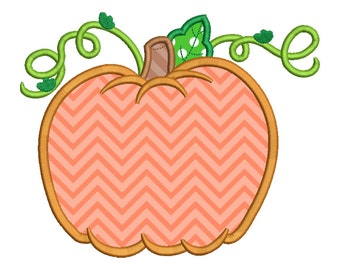 Thanksgiving Cute Pumpkin Applique Embroidery Design Instant Download - 0329