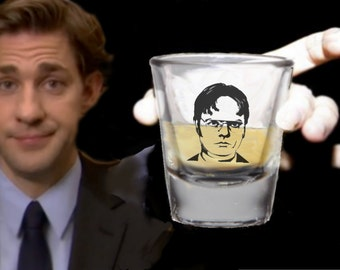 The Office TV Show Dwight Shrute Shot Glass LIMITED EDITION