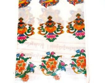 Tibetan Scarf Khata.( Choose any 1 color white / orange)