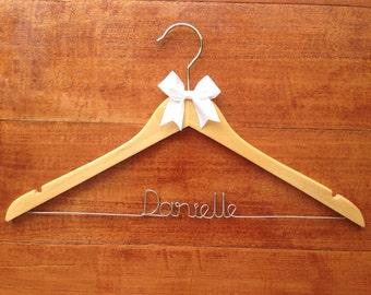 Personalised wedding hanger for the bridesmaid, custom wedding hanger